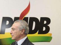 Temer se licencia da presidência do PMDB; Jucá assume