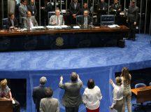 Plenário do Senado tem tumulto após decisão de Renan de tocar impeachment