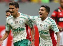 No Mané Garrincha, Palmeiras supera Flamengo e vence primeira fora de casa