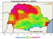 Frio: Jaguariaíva registra – 1,6º, a menor temperatura do ano