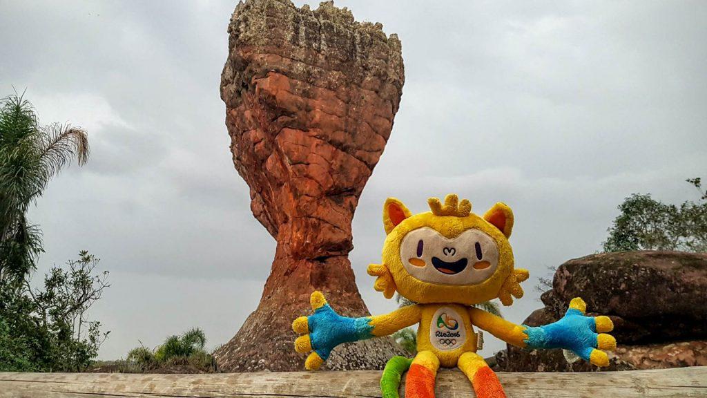 Vinícius, o mascote oficial dos Jogos no Parque de Vila velha