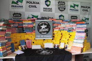 As apreensões de cocaína e ecstasy feitas pelas polícias Civil e Militar do Paraná quadruplicaram no primeiro trimestre de 2016, em comparação com o mesmo período de 2015. Curitiba, 31/08/2016. Foto: SESP