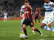 No primeiro duelo das oitavas de final da Copa do Brasil, Furacão é superado pelo Grêmio