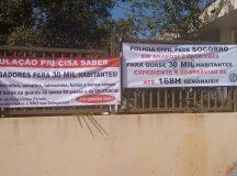 Polícia de Arapoti faz greve e protesto contra a falta de efetivo e estrutura