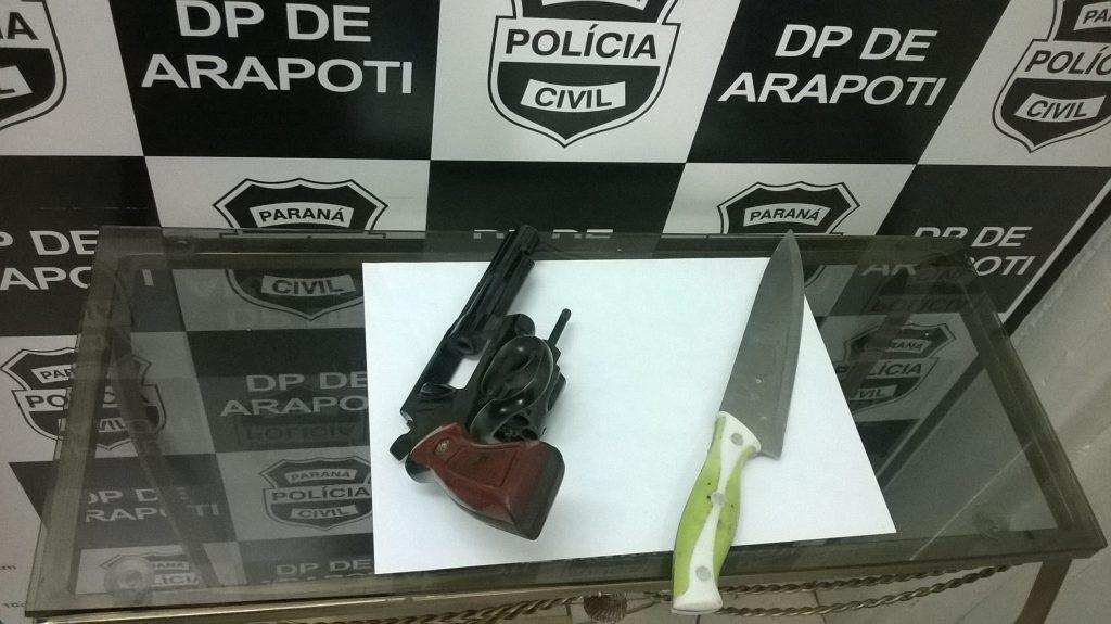 Arma utilizada no crime. Foto: Divulgação/Polícia Civil