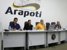 Secretário respondeu aos questionamentos dos parlamentares. Foto: Divulgação/Câmara Municipal de Arapoti