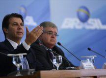Entrevista do relator da reforma da Previdência, deputado Arthur Maia, e do presidente da comissão, deputado Carlos Marun, após reunião com presidente Michel Temer. José Cruz/Agência Brasil