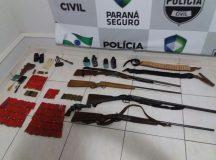 Polícia Civil de Jaguariaíva faz apreensão de armas na Zona Rural