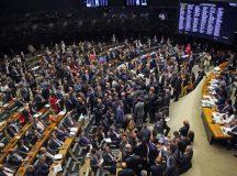 Plenário da Câmara rejeitou autorização para STF investigar denúncia contra o presidente Michel Temer. Wilson Dias/Agência Brasil