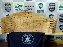 A Divisão Estadual de Narcóticos (Denarc), da Polícia Civil do Paraná, apreendeu, no ano passado, mais de 68 toneladas de drogas, entre maconha, cocaína, crack, haxixe, ecstasy, LSD e lança-perfume. A quantidade,  comparada com o mesmo período de 2016, aumentou 61% em todo Estado. Curitiba, 26/01/2018. Foto: Divulgação Denarc/SESP