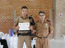 Soldado Mitsuo foi reconhecido pela atuação. Foto: Divulgação/PM