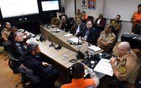 Secretário chefe da Casa Militar, coronel Mauricio Tortato, se reúne com lideranças do movimento grevista dos caminhoneiros. Curitiba, 24/05/2018 Foto: Ricardo Almeida / ANPr