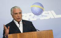 O presidente Michel Temer anuncia redução no preço do óleo diesel