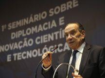 Brasília - O ministro Aloysio Nunes Ferreira, das Relações Exteriores, durante abertura do 1º Seminário sobre Diplomacia e Inovação Científica e Tecnológica (José Cruz/Agência Brasil)