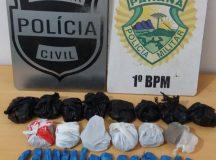Polícia apreende 50 buchas de maconha no Leffers e prende traficante