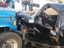 Acidente violento no centro de Arapoti deixa um ferido