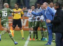 O jogador Deyverson, da SE Palmeiras, comemora seu gol contra a equipe do CR Vasco da Gama, durante partida valida pela décima oitava rodada, do Campeonato Brasileiro, Série A, na Arena Allianz Parque.