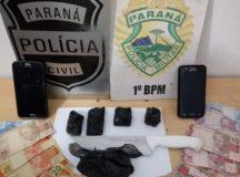 Primeira apreensão de drogas. Foto: Divulgação/ Polícia Civil