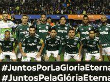 O time da SE Palmeiras, em jogo a equipe do CA Boca Juniors, durante partida valida pelas semi finais (ida), da Copa Libertadores, no Estádio La Bombonera.