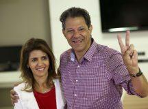 O candidato à Presidência da República, Fernando Haddad, vota em São Paulo.