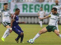 Pênalti duvidoso define o placar de 1×1 entre Paraná Clube e Palmeiras