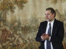 O presidente do STF e do Conselho Nacional de Justiça (CNJ), Dias Toffoli, assina acordos de cooperação técnica com o Ministério da Saúde, o Instituto Humanitas360 e a Universidade de São Paulo (USP).