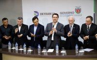 Governador Carlos Massa Ratinho Júnior durante visita ao Detran-Pr  -  Curitiba, 16/01/2019  -  Foto:  José Fernando Ogura/ANPr