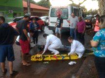Acidente deixa motociclista ferido no centro de Arapoti