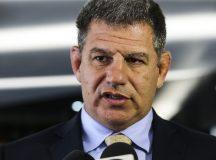 O ministro da Secretaria-Geral da Presidência da República, Gustavo Bebianno, chega ao ministerio da Justiça e Segurança Pública, para reunião com o ministro, Sergio Moro