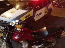 Motocicleta furtada em Arapoti é recuperada em Piraí do Sul