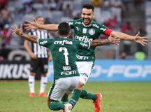Palmeiras vence Atlético-MG em Minas e assume a liderança do Brasileirão
