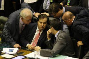 O presidente da Câmara dos Deputados, Rodrigo Maia, durante sessã no plenário que conclui votação em primeiro turno da Reforma da Previdência.
