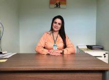 Psicóloga e Coordenadora do CAPS Larissa Vieira Sadeck dos Santos. Foto: Assessoria de Comunicação da Prefeitura de Jaguariaíva