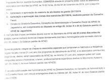 Edital de Convocação de Assembleia e Eleição da APAE de Jaguariaíva
