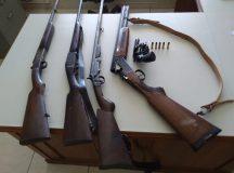 Operação policial prende quatro por posse ilegal de armas em Jaguariaíva