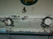 Cofre arrombado da Rodoviária. Foto: Reprodução/O que acontecem em Arapoti