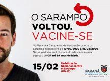 Vacinação contra sarampo começa nesta segunda-feira