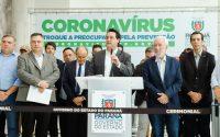 Ratinho Jr. anuncia medidas de combate ao novo coronavírus. Foto: Divulgação